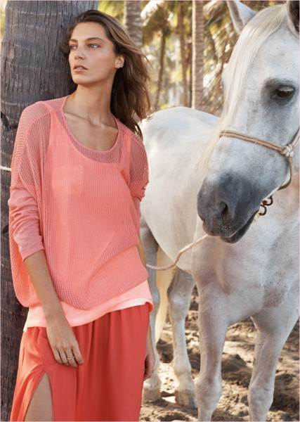 Daria-Werbowy-for-Mango's-Summer-Catalogue-2014-6