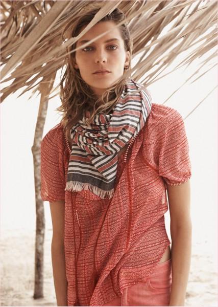 Daria-Werbowy-for-Mango's-Summer-Catalogue-2014-9