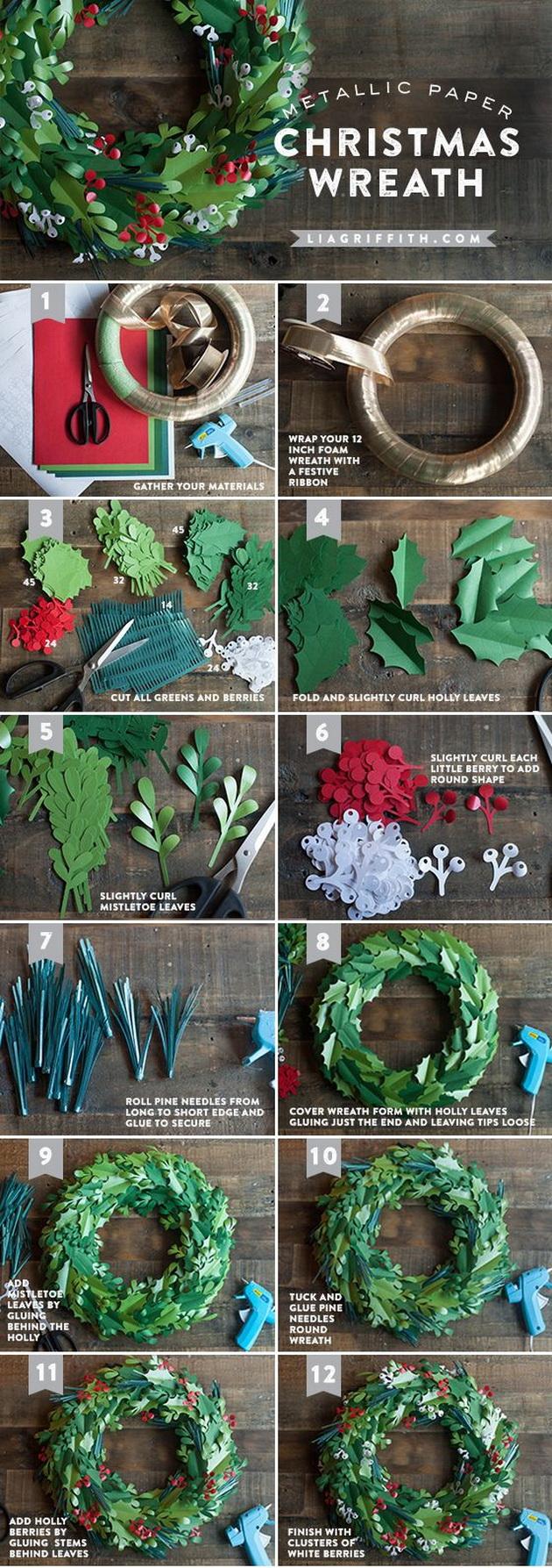 DIY-Christmas-Project-14-Incredible-Christmas-Wreaths-2