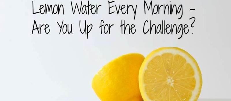 March Lemon Water Challenge: Drink A Glass Of Lemon Water