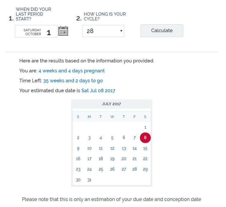 Useful Pregnancy Calculators - Calculate the Date of ...