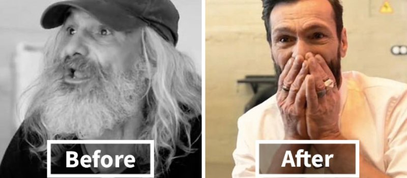 An Incredible Transformation Had This Homeless Man Crying